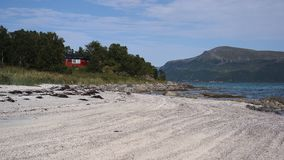 A sandy beach Stock Images