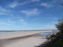 Sandy Beach. In Yakutia-Vilyuysk district Stock Photo