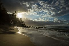 Sandy Beaches av Maui Hawaii Arkivfoton