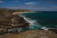 Sandy beack. Sandy beach, one of the most dangerous beaches in Hawaii Stock Images