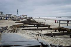 Sandy Belmar Boardwalk Royalty Free Stock Image