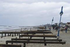 Sandy Belmar Boardwalk View Stock Image