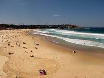 Sandy Bondi Beach. Sandy beach in Australia at Bondi Junction royalty free stock image