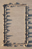 Sandy border. Stock Photos