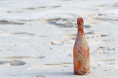 Sandy bottle Stock Photography