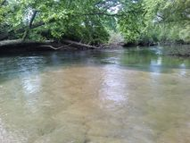 Sandy bottom river. Nature, water royalty free stock image