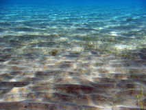 Sandy bottom of the sea Stock Photo