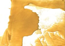 Sandy brown stained watercolor background Royalty Free Stock Image