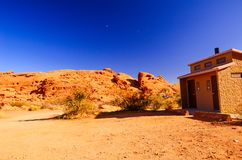 Sandy canyon hill in the desert stock image