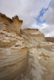 The sandy canyon in mountains of the Dead Sea Royalty Free Stock Image