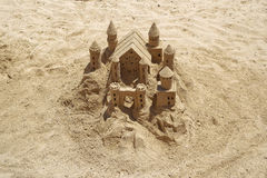 Sandy castle Royalty Free Stock Photo