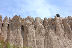 Sandy cliff. Roadside sandy cliff near city Cranbrook, british columbia, canada Royalty Free Stock Image