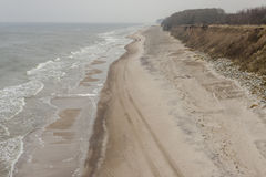 Sandy and cliffs Baltic coast - Poland. Royalty Free Stock Photos