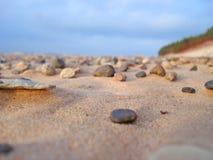Sandy coast. Sea small stone on sandy coast Royalty Free Stock Image