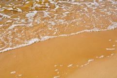 Sandy coast of Baltic Sea stock photography