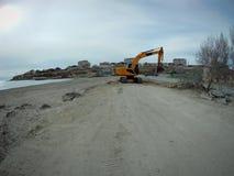 Sandy coast of the Caspian Sea royalty free stock photography