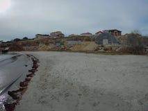 Sandy coast of the Caspian Sea. Aktau. Kazakhstan royalty free stock photo