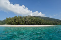 Sandy coast and clear sea of the Tarutao marine National Park Stock Image