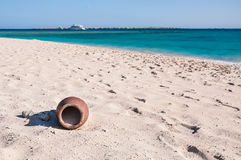 Sandy coral beach on the island in the red sea Stock Photography