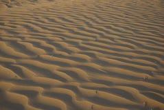 Sandy corrugation. In the Arabian Desert Stock Photos