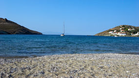 Sandy Cove. This quite cove on the Greek island of Kea is an idylic place to chill out Royalty Free Stock Photography