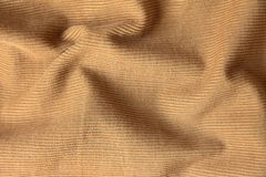 Sand velveteen fabric crumpled can be used as background stock photography