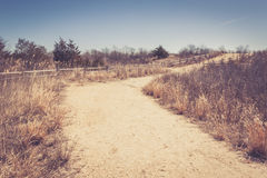 Sandy curved walking path Royalty Free Stock Image