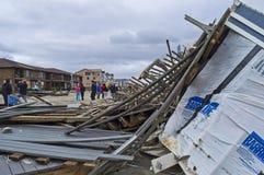Sandy Debris on Beach Royalty Free Stock Photography