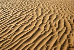 Sandy Desert. Waves in the hot desert sands Royalty Free Stock Photography
