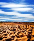 Sandy desert Royalty Free Stock Images