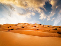 Sandy desert Royalty Free Stock Image