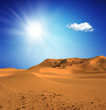 Sandy desert at daytime Stock Photo