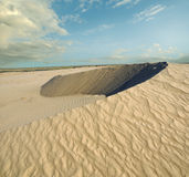 Sandy desert dune Royalty Free Stock Images