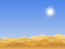 Sandy desert landscape Royalty Free Stock Photo