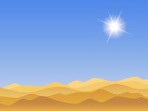 Sandy desert landscape Royalty Free Stock Photo