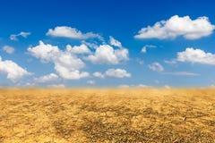 Sandy desert landscape. Drought background Royalty Free Stock Photos