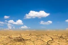 Sandy desert landscape. Drought background Stock Photography