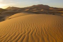 Sandy Desert Of Morocco Stock Image