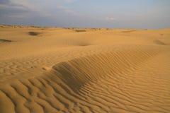 Sandy desert spring day Stock Photo