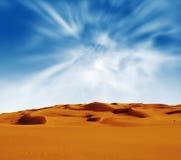 Sandy desert at sunrise time royalty free stock photos