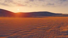 Sandy desert at sunset closeup Royalty Free Stock Photo