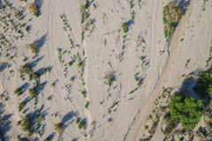 Sandy Desert Wash. In the Mojave of southern California Stock Photography
