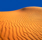Sandy dune. Bright  colour contrast and a saturation. Desert Negev in Israel. Film shot Royalty Free Stock Image