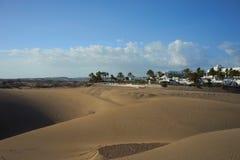 Sandy dunes in desert Stock Photo