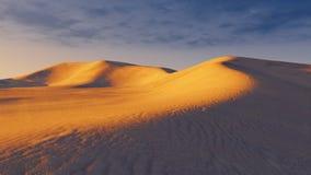 Sandy dunes at evening time stock illustration