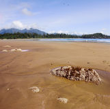 The sandy dunes at the of island Vancouver Stock Image
