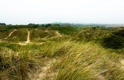 Sandy Dunes på den Brittas fjärden Arkivbilder