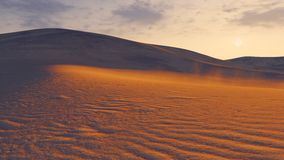 Sandy dunes at sunset closeup Stock Image