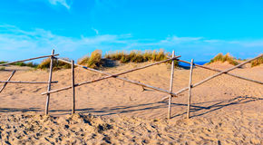 Sandy dunes during sunset. Curonian Spit, Lithuania Stock Image