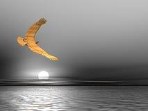 Sandy Eagle. In a monochrome sky Royalty Free Stock Photos